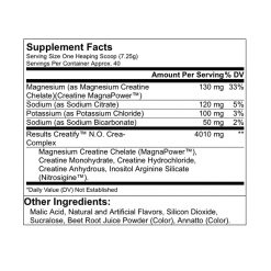 Results Creatify Furious Punch Supplement Facts