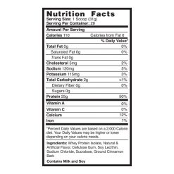 protein Cinnamon Bun Supplements Facts
